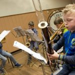 Concert blazersbende jeugdmuzikanten